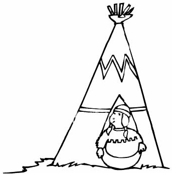 Teepee with Little Indian